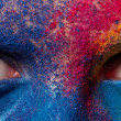Eyes of woman with paint make-up — Stock Photo