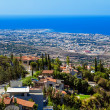View from mountain, Limassol, Cyprus - Stock Photo