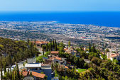 View from mountain, Limassol, Cyprus — Stock Photo