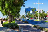 View of street, Limassol, Cyprus — Stock Photo