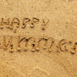 Inscription on a sand — Stock Photo