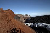 Frozen magma in the volcano crater Avachinskaya — Stock Photo