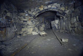 Drift in on the mining of limestone quarries — Stock Photo