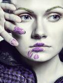 Creatieve gezicht schilderen — Stockfoto