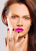 Kleurrijke make-up — Stockfoto