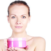 Girl skin care — Stock Photo