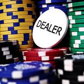 Lot of gambling chips — Stock Photo