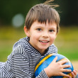 Little Boy With A Ball — Stock Photo