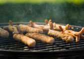 Grilled sausages — Stock Photo