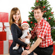 Happy Christmas family — Foto de Stock