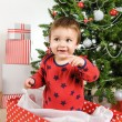 Christmas little boy — Stock Photo