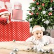 Two Christmas baby — Stock Photo