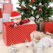 Stock Photo: Christmas little kids