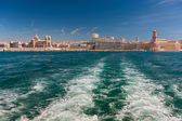 View of the Vieux Port - old port of Marseilles, France — Stock fotografie