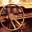 Stock Photo: Interior old luxury car