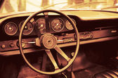 Interior old luxury car — Stock Photo