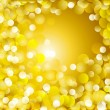 Golden lights background - Stock Photo