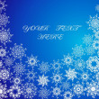 Christmas blue background with snowflakes — 图库矢量图片