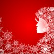 Royalty-Free Stock Vector Image: Christmas girl with snowflakes in hair