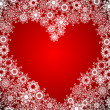 Vector de stock : Heart of Snowflake