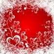 Christmas background whit hearts — Stockvectorbeeld