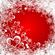 Christmas background whit hearts — Image vectorielle