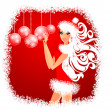 Christmas Girl. — Stock Vector