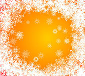 La ventana congelada. fondos de navidad. frost y copo de nieve — Vector de stock
