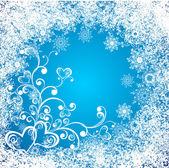 Weihnachten Hintergrund mit Herz — Stockvektor