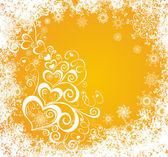 クリスマス背景聖霊降臨祭の心 — ストックベクタ