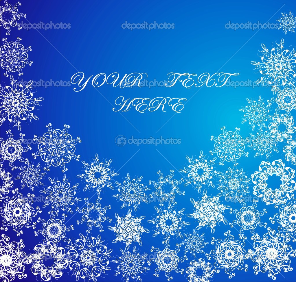 Christmas blue background with snowflakes  — Stock Vector #12061402