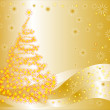Royalty-Free Stock Векторное изображение: Christmas vector background with fancy tree