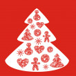 Christmas tree — Vector de stock #12077154