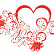 Royalty-Free Stock Imagem Vetorial: Heart with floral ornament