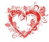 Floral heart — Stock Vector