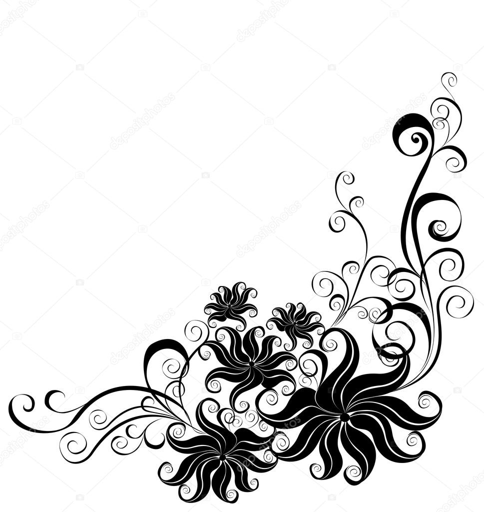Vector floral ornament, element for design  — Stock Vector #12078658
