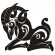 Aries. Astrology sign. Vector zodiac — Stok Vektör