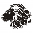 ������, ������: Tattoo Lion Astrology sign Vector zodiac Leo
