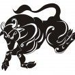 Vetorial Stock : Tattoo Taurus. Astrology sign. Vector zodiac