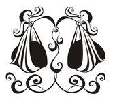 Libra. Astrology sign. Vector zodiac — Stock Vector