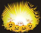 Halloween tło z dyni i nietoperze — Wektor stockowy