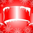 Winter banners with icicles — Vector de stock