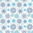 Christmas Seamless snowflakes background — Stockvectorbeeld