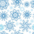 Christmas Seamless snowflakes background — Stock Vector #12200620
