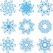 Stock Vector: Set Snowflakes