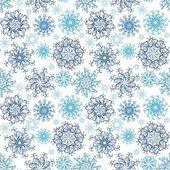 圣诞无缝雪花背景 — 图库矢量图片