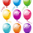 Set colorful party balloons — Stock Vector