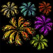 Royalty-Free Stock Vector Image: Brightly colorful vector fireworks