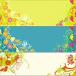 Three summer banners — Stock Vector
