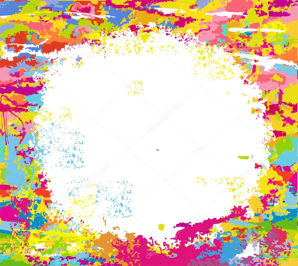 Marco de color abstracto de manchas de pintura vector for Marcos para pinturas